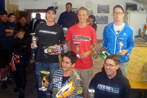 Stefan Wüthrich on the 4WD podium at the Aplencup round 5