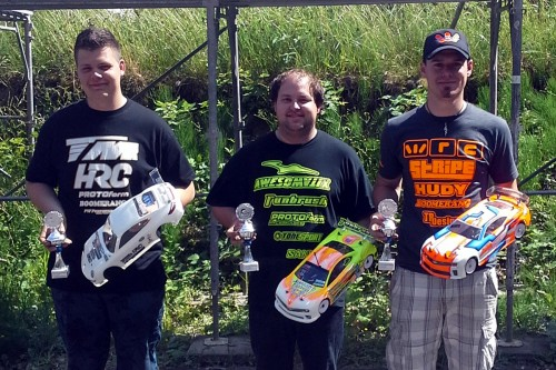 Phillip Walleser / Team Magic E4RS II EVO on the podium @ BaWue Cup Konstanz
