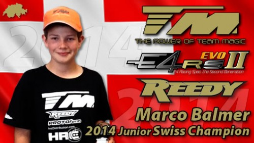 Marco Balmer is Junior SWISS CHAMPION with Team Magic E4RS II EVO !!