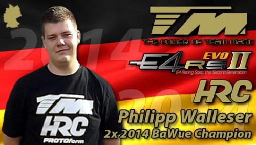 Philipp Walleser / Team Magic E4RS II EVO DOUBLE TITLE @ BaWue-Cup 2014 !!