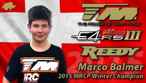 Marco Balmer / Team Magic is 2015 MRCP Winter Champion !