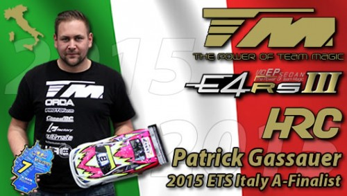 TM E4RS III – ETS Italy A-Finalist with Patrick Gassauer !!