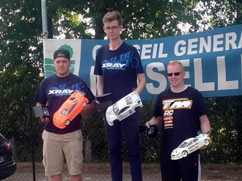 Jérémy Clavey / E4RS III on the podium at French League 6 Rd 9 Championship @ Reding