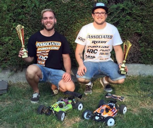 Associated RC8B3 dominates Swiss Championship Rd 6 at Morges with Hofer and Lüber !!