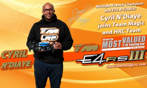 Multiple French Champion Cyril N'Diaye joins Team Magic / HRC !!