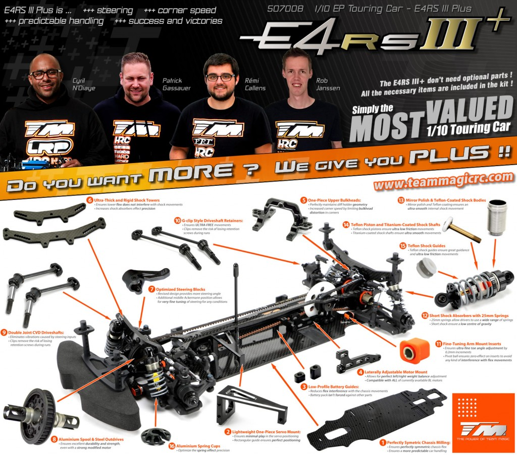"Team Magic E4RS III+ ""PLUS"" - Simply the most valued RC car on the market !!"