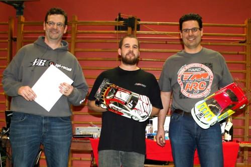 Arthur Brulé / Team Magic E4RS III+ on the podium at SITCC round 4 at Geneva