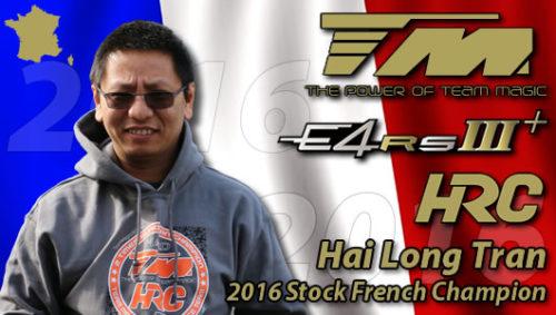 Hai Long Tran / Team Magic E4RS III Plus is 2016 Stock French Champion