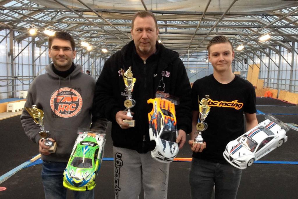 Christophe Libeer / Team Magic E4RS III Plus on the podium at Lovan RC-Challenge Race 3