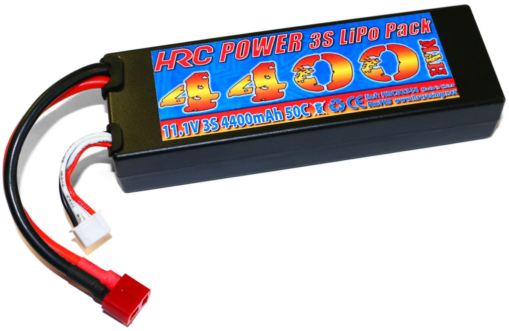 NEW – HRC Racing 3S / 11.1V Hard Case 4400mAh 50C LiPo Pack