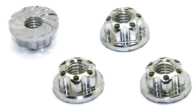 NEW - HRC Racing TSW Pro Racing Ultra Light Aluminium Machined Wheels Nuts !